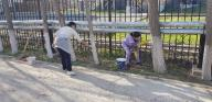 """On the eve of the holiday Nauryz in the branch of the RSE """"Gosexpertiza"""" in the southern region in Shymkent held citywide clean"""